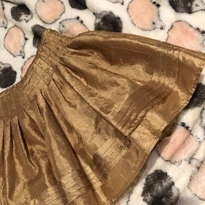 DKNY Gold Puffy Kids Skirt